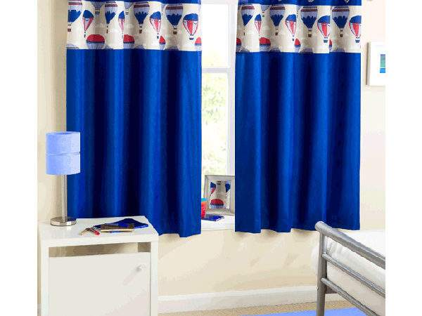 Curtains Pole Accessories Horizon Blue Eyelet