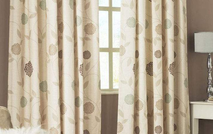 Curtains Rosemont Natural Ready Made Pencil Pleat Lined