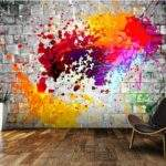 Custom Art Ink Splatter Murals