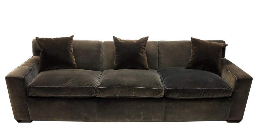 Custom Made Sofa Brown Velvet Jonas Nyc