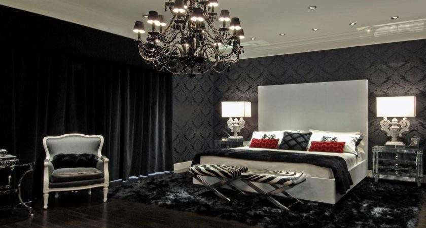 Damask Bedroom Black Bedding
