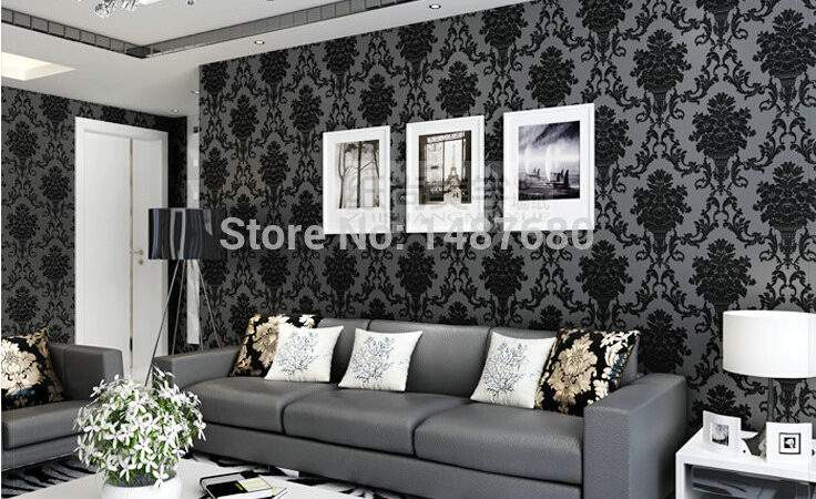 Damask Wall Paper Mural Imitation Non
