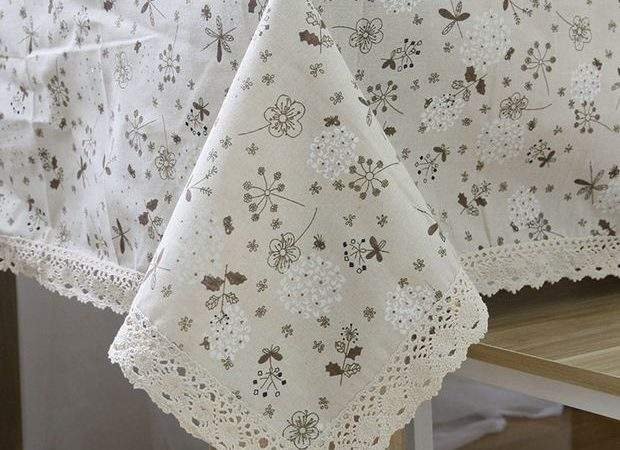 Dandelion Linen Table Cloth Country Style Flower Print