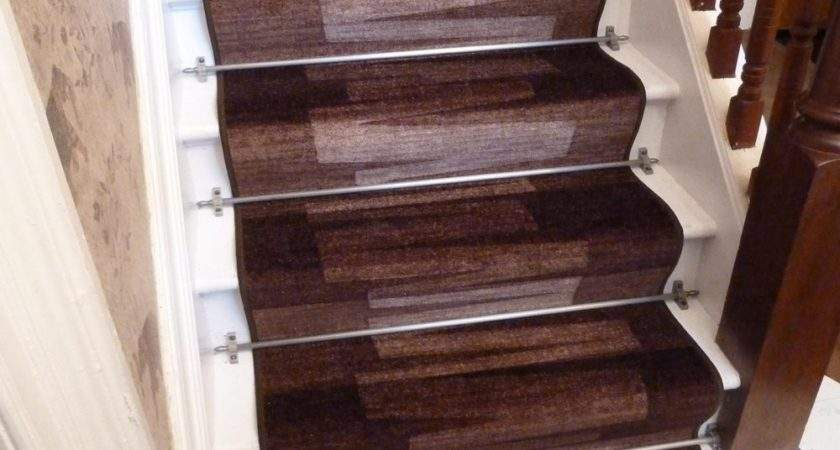 Dark Brown Stair Carpet Runner Via Veneto