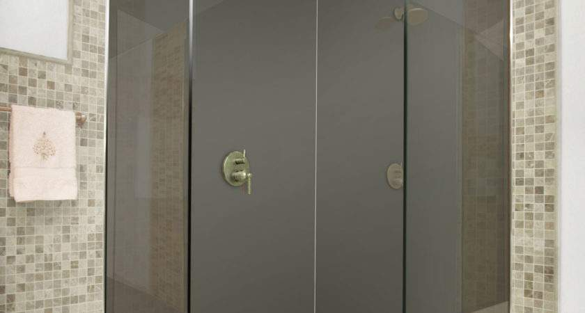 Dark Grey Acrylic Shower Panels Splash