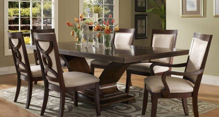Dark Wood Dining Room Set Marceladick