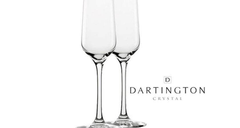 Dartington Crystal Champagne Flutes Pair Rude Wines