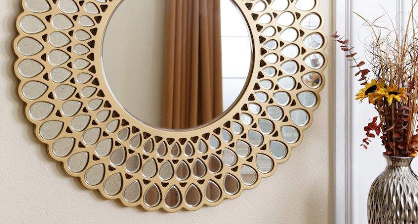 Dazzling Round Wall Mirrors Decorate Your Walls