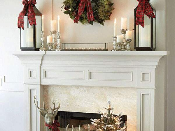 Decorate Mantel Christmas Furnish Burnish