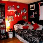 Decorating Bedroom Ideas Musical Notes Red
