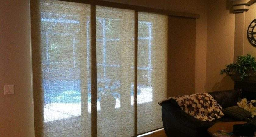 Decorating Black Vertical Sliding Glass Door Blinds