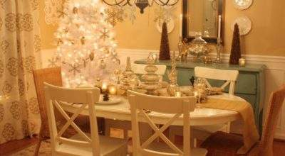 Decorating Dining Room Christmas Hooked Houses