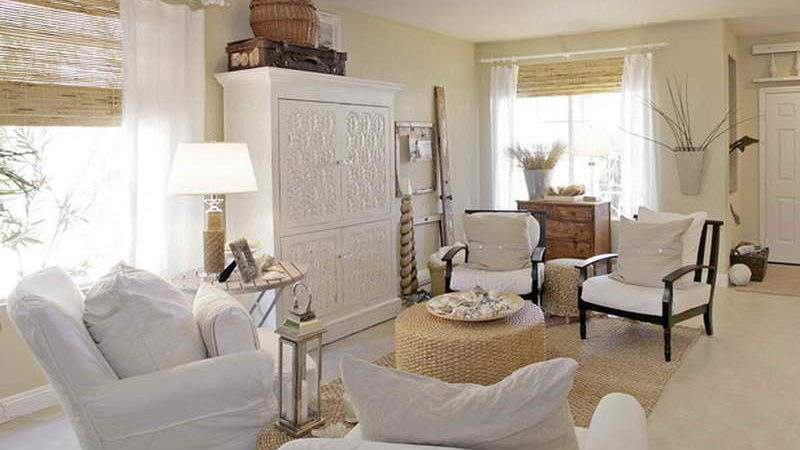 Decoration Cottage Living Room Beach Home Decorating