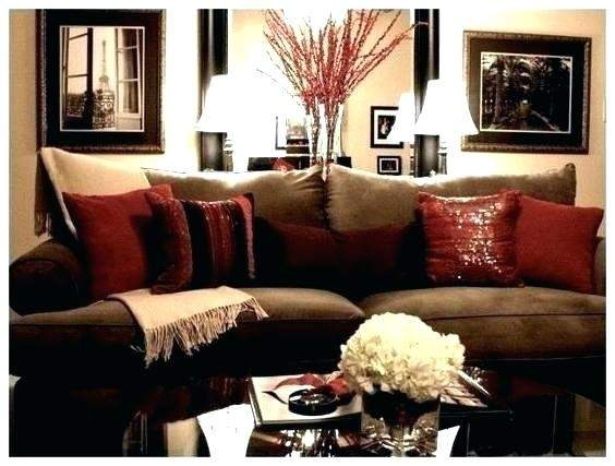 Decoration Living Room Ideas Reds Browns Red Gold