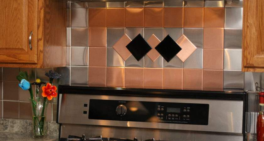 Decorative Self Adhesive Kitchen Metal Wall Tiles