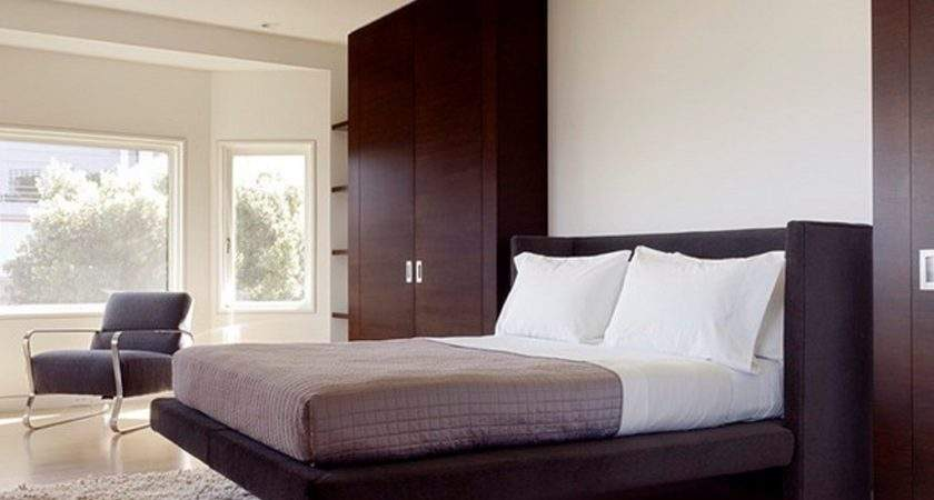 Deep Brown Wardrobe Design Contemporary Bedroom Ideas