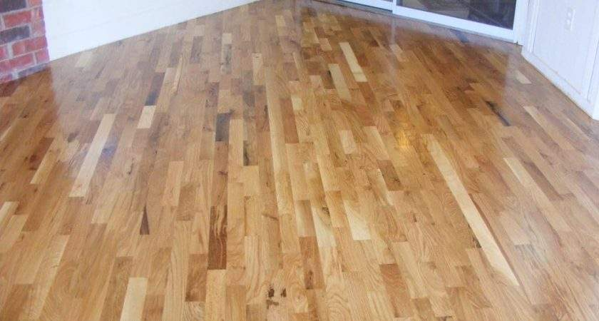 Degree Angle Common Red Oak Install Sand Finish