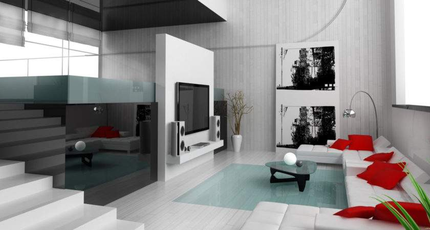 Designs White Fancy Red Black Living Room Design