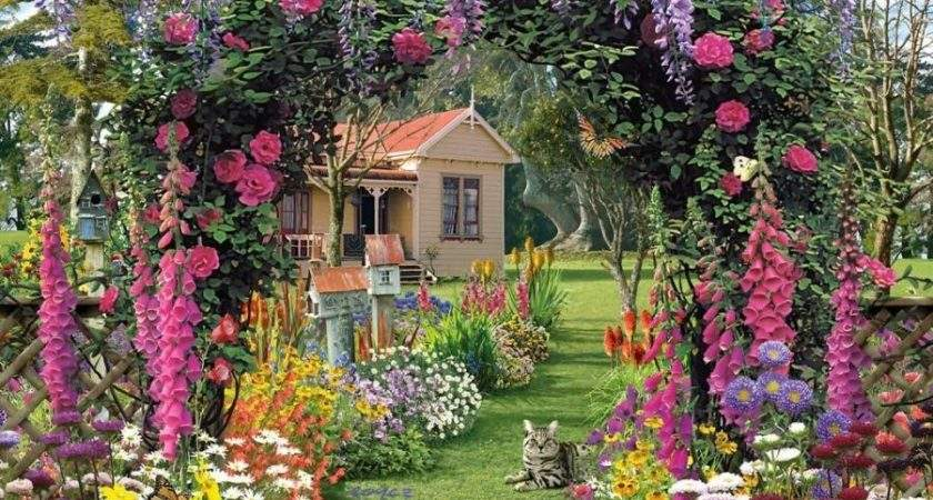 Desk Cottage Garden