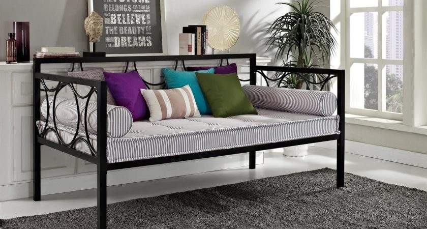 Dhp Rebecca Metal Daybed Black Kids Daybeds Hayneedle