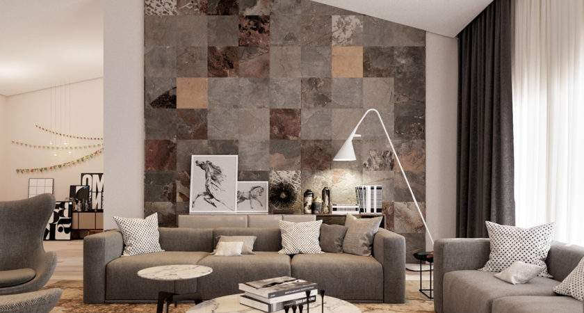 Different Texture Living Room Home Combo