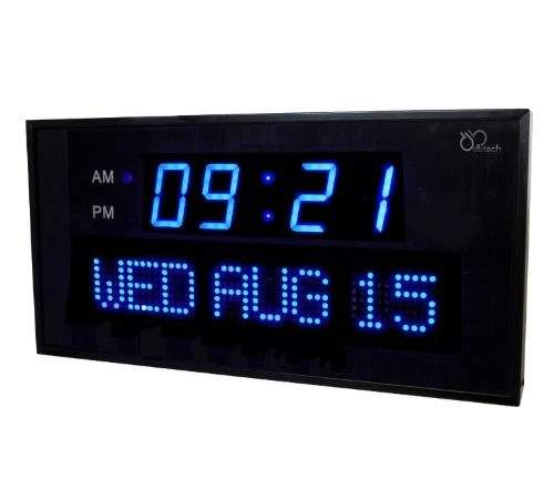 Digital Wall Clock Large Numbers Frompo