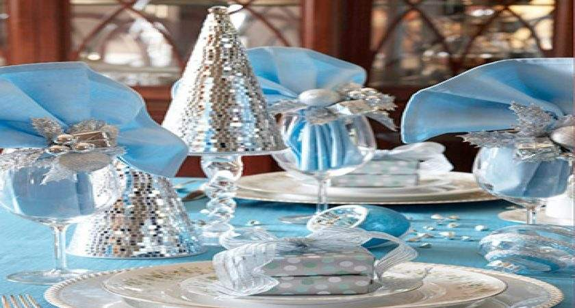 Dining Room Slipcovers Blue Silver Christmas