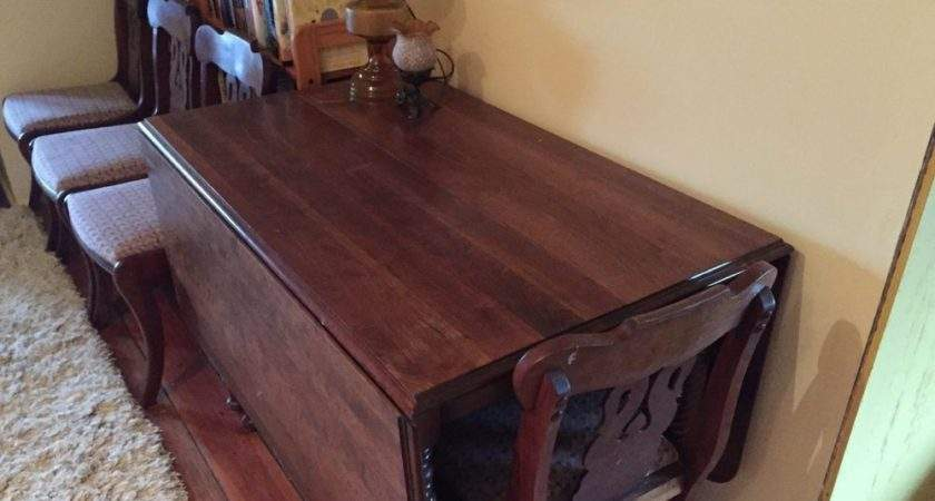 Dining Room Table Chairs Antique Cherry Wood Ebay