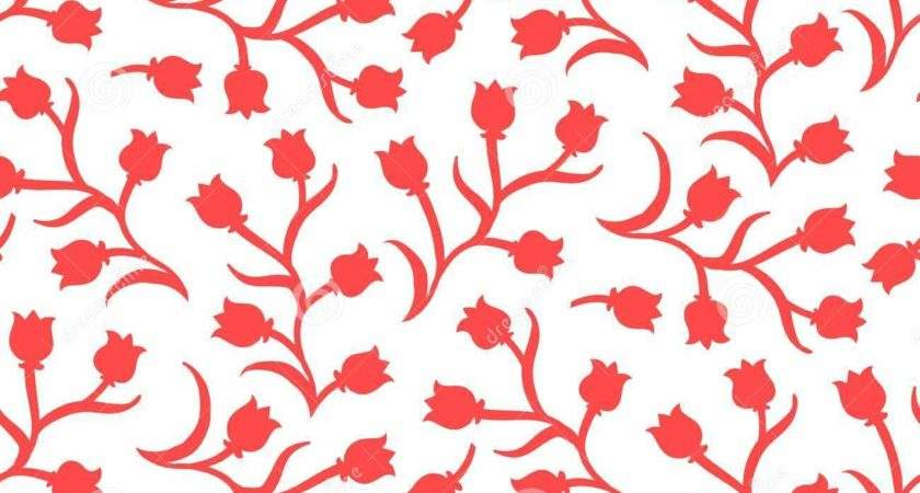 Ditsy Floral Pattern Small Red Tulips