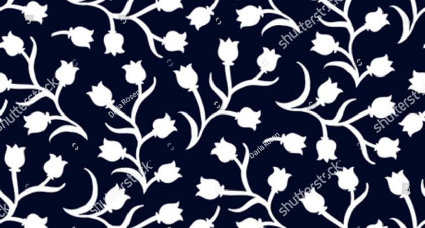 Ditsy Floral Pattern Small White Tulips Vector