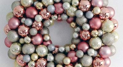 Diy Bauble Wreath Witch Oneandseventy