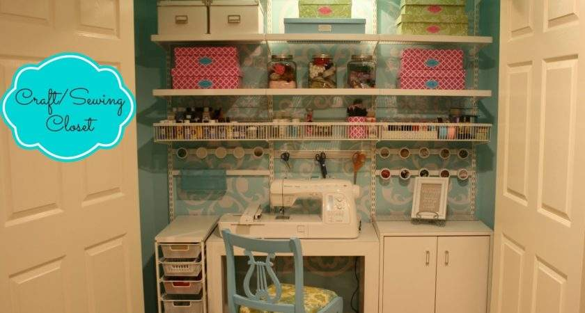 Diy Design Craft Sewing Closet Reveal
