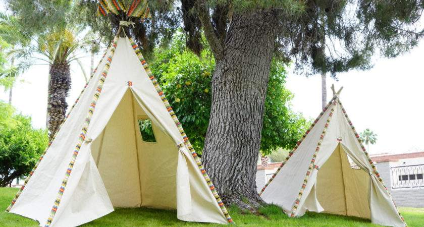 Doodle Teepee Kids Large Tipi Play Tent