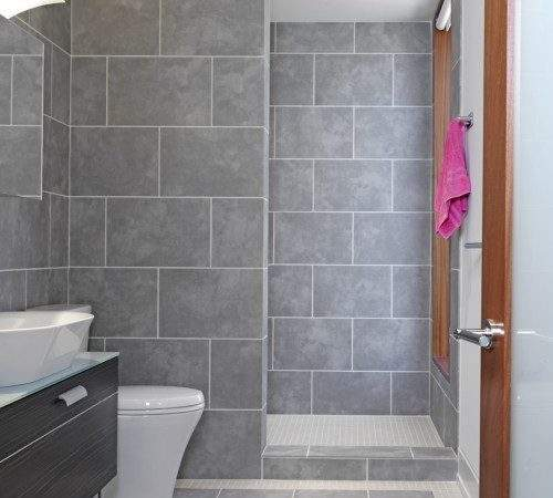 Doorless Shower Too Much Tile Bathroom But Like