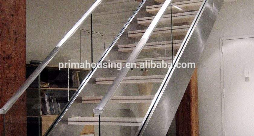 Double Side Stringer Stairs Shaped Staircase