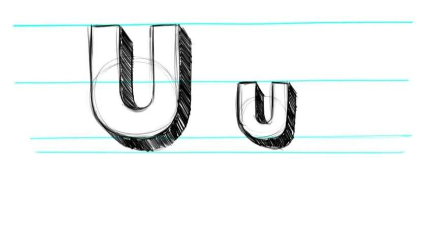 Draw Letters Uppercase Lowercase