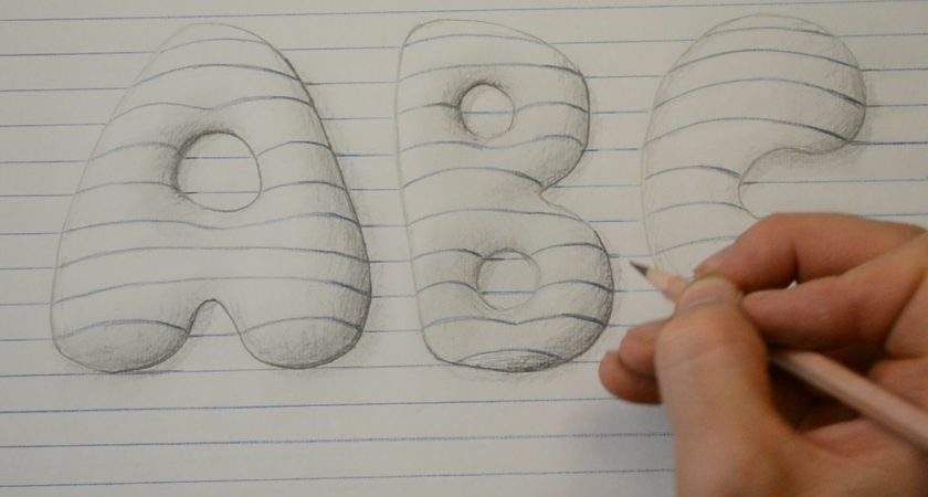 Draw Style Bubble Letters Notepad Art Youtube