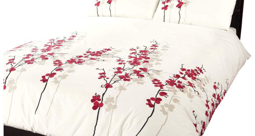 Dreams Drapes Oriental Flower Duvet Cover Set