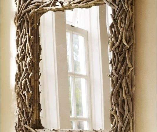 Driftwood Mirror Eclectic Wall Mirrors Pottery Barn