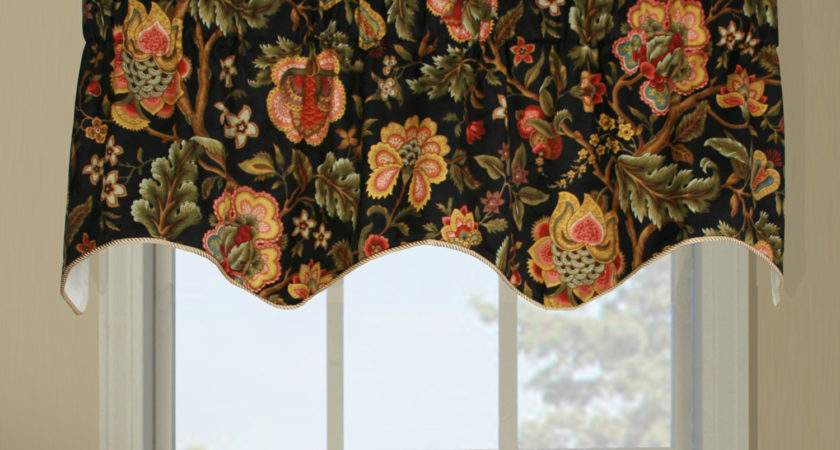 Duchess Imperial Dress Insert Window Valance Floral