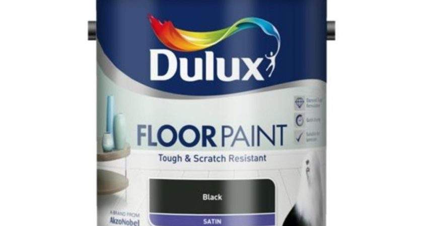 Dulux Floor Paint Black Satin Tough