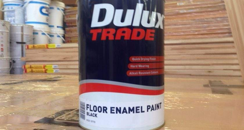 Dulux Trade Floor Enamel Black Ltr Hyper Paint Pty Ltd