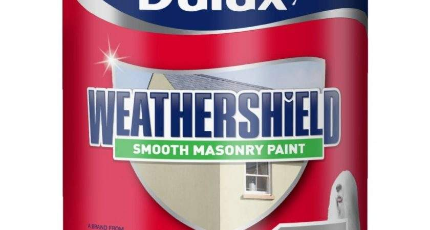 Dulux Weathershield Smooth Masonry Paint Litre Concrete Grey