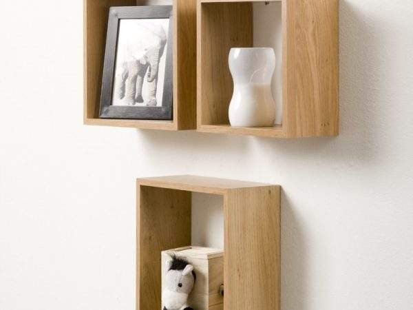 Duraline Triple Cube Shelves Oak Hobby Products