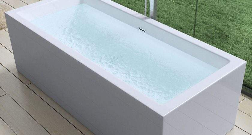Durovin Square Double Ended Freestanding Bath Tub Acrylic