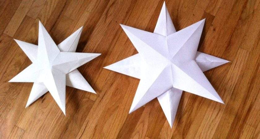 Easy Paper Star Tutorial Mom Music City
