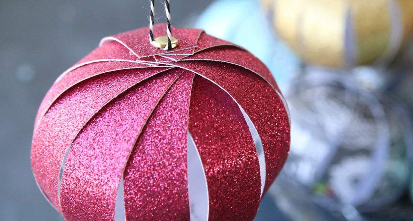 Easy Paper Strip Christmas Ornaments Kids Can Make