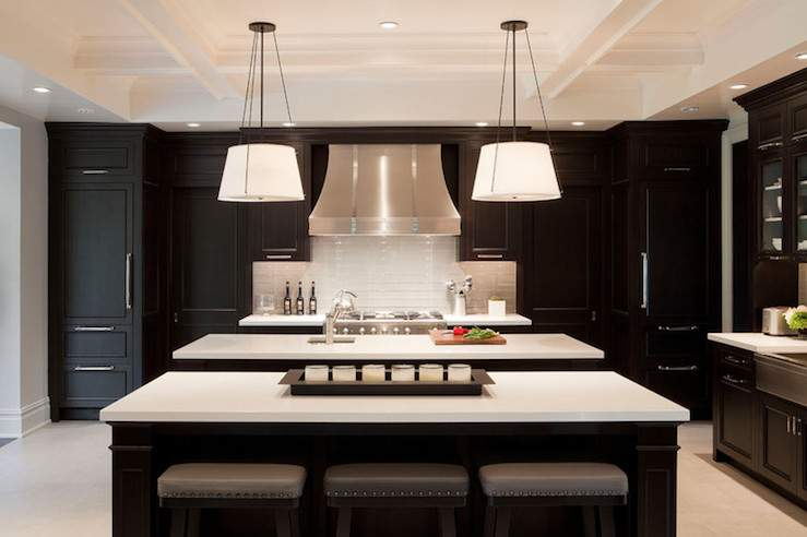 Ebony Kitchen Cabinets Design Decor Photos