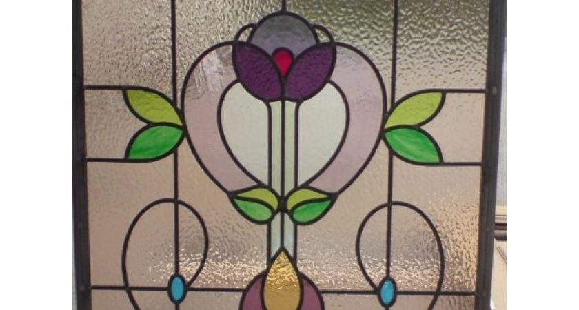 Edwardian Handmade Stained Glass Panel
