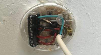 Electrical Changing Light Fitting Old Wiring Home